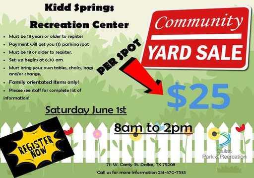 Kidd Springs Recreation Center Community Yard Sale