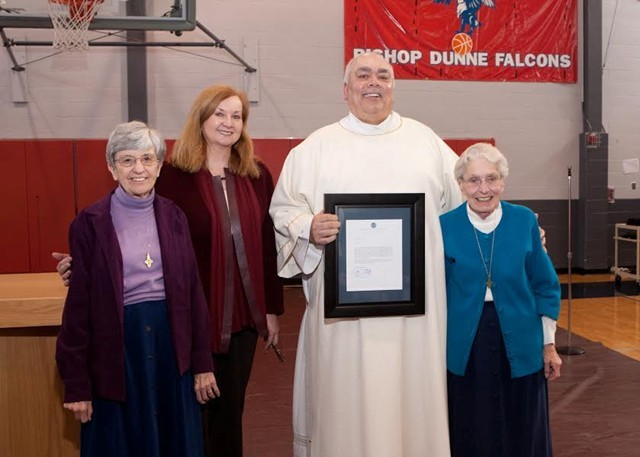 Deacon Paul Wood Scholarship Announced to Bishop Dunne Student Body